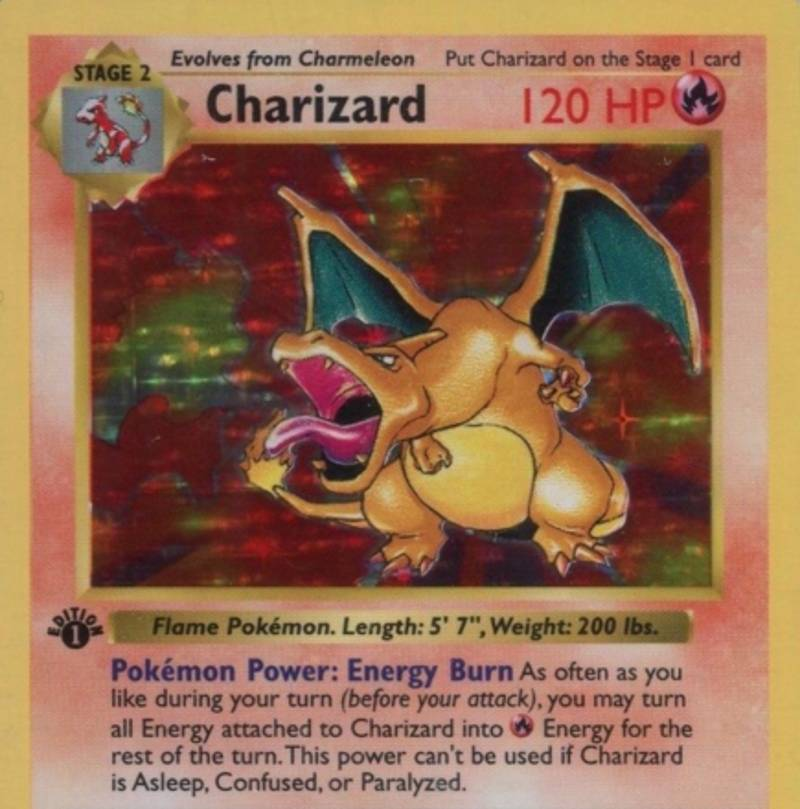A First Edition Charizard Pokemon Will Get You A Lot Of Money