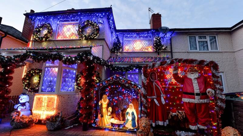 A Couple In Birmingham Have Already Put Up Their Christmas Lights