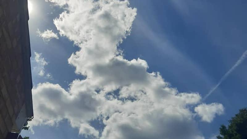 Woman Spots 'Amazing' Cloud That Looks Like Shape Of UK