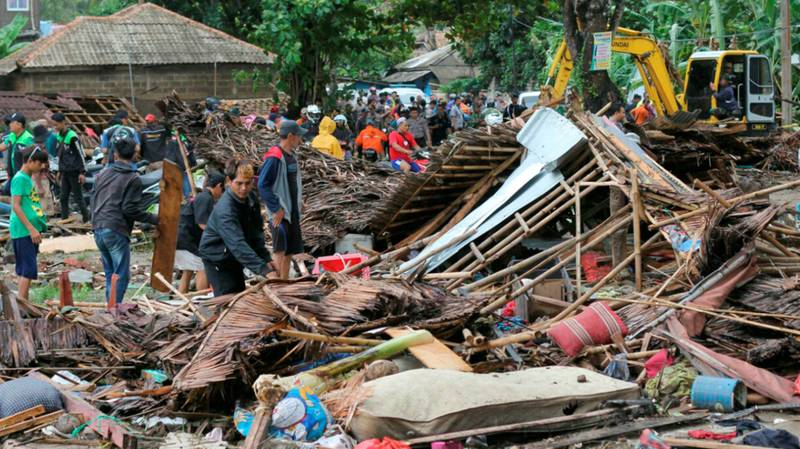 ​At Least 222 Killed And 745 Injured In Indonesian Tsunami