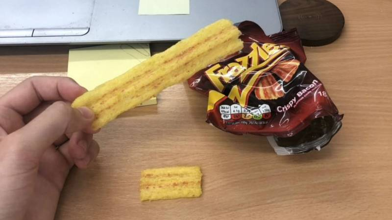 Man Finds Massive 'World Record' Sized Frazzle Inside Packet Of Crisps