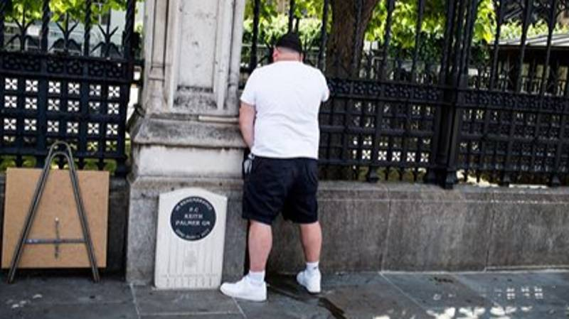 Man Arrested On Suspicion Of Urinating Next To PC Keith Palmer's Memorial During Protests