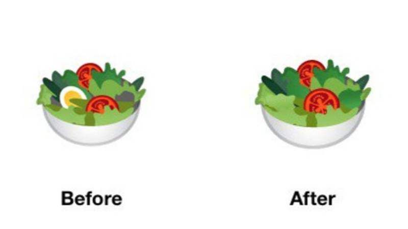 Google Redesigns Salad Emoji So That It's 'More Inclusive' To Vegans