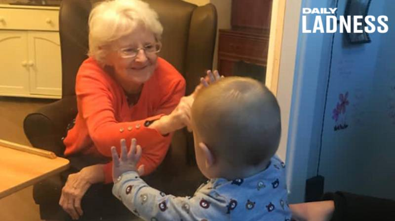Little Boy Meets His Great-Nan For First Time Thanks To Covid-Safe Pod At Care Home