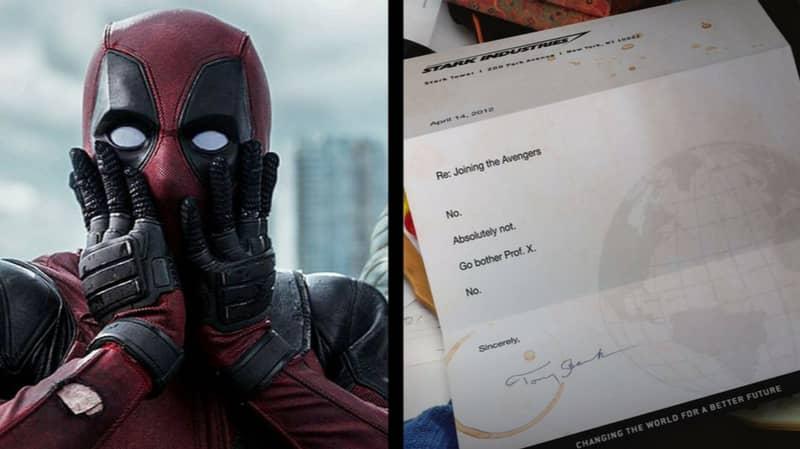 Ryan Reynolds Shares Deadpool's Avengers Rejection Letter