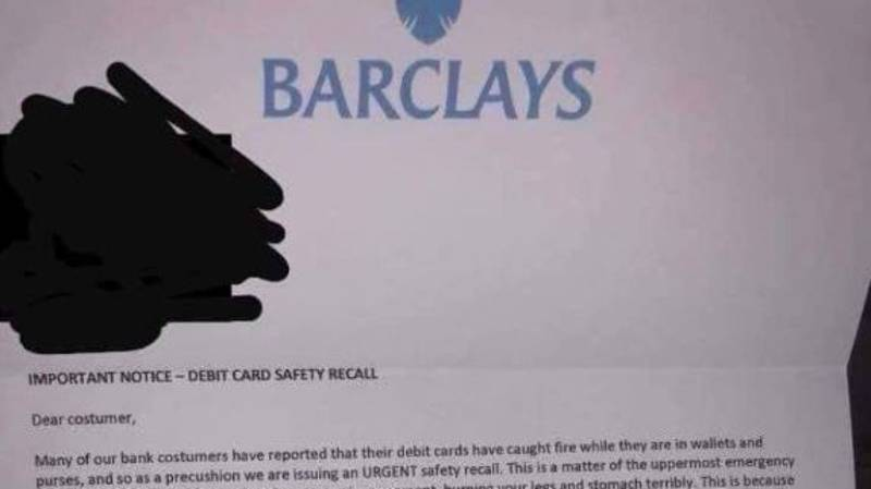 Police Share 'Warning' Over Worst Scam Letter Which Claims Card Could Combust