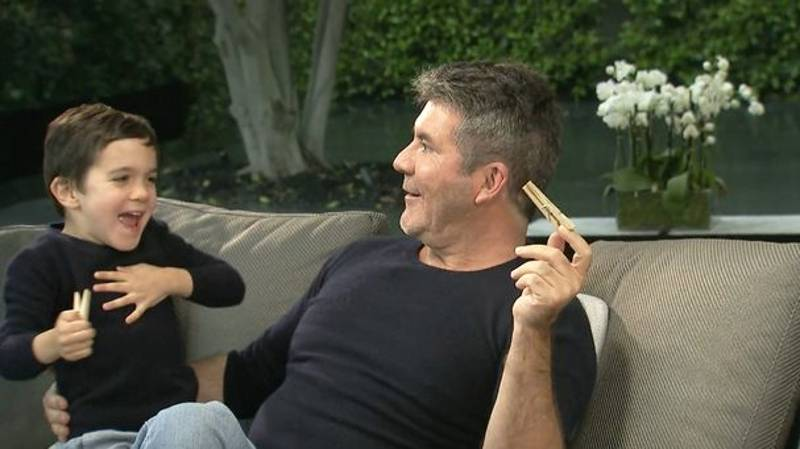 ​Simon Cowell Interview Gatecrashed By His Own Son