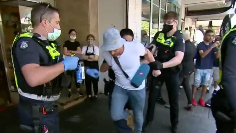 Anti-Lockdown Protestors In Melbourne Clash With Police