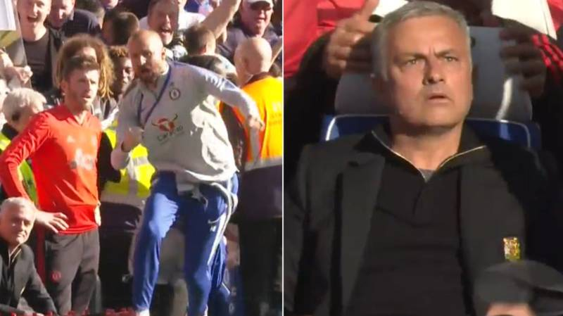 Jose Mourinho Pulled Away From Melee Following Late Chelsea Equaliser