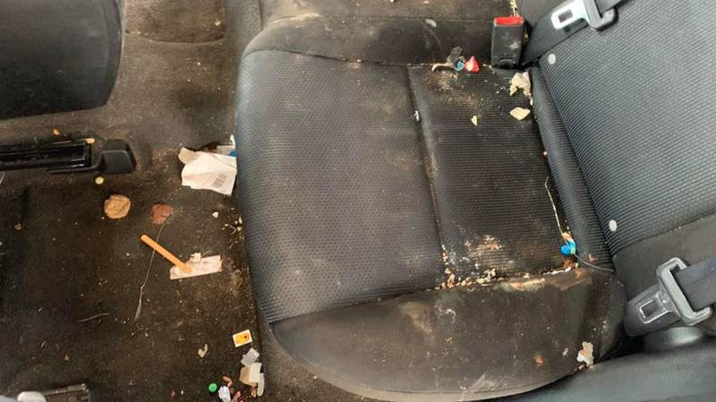 Business Shares Pictures Of Customer's Vehicle That Took Seven Hours To Clean