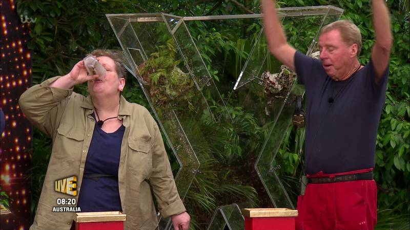 'I'm A Celeb' Viewers Claim Anne Hegerty Downed A Glass Of Coke In Live Trial