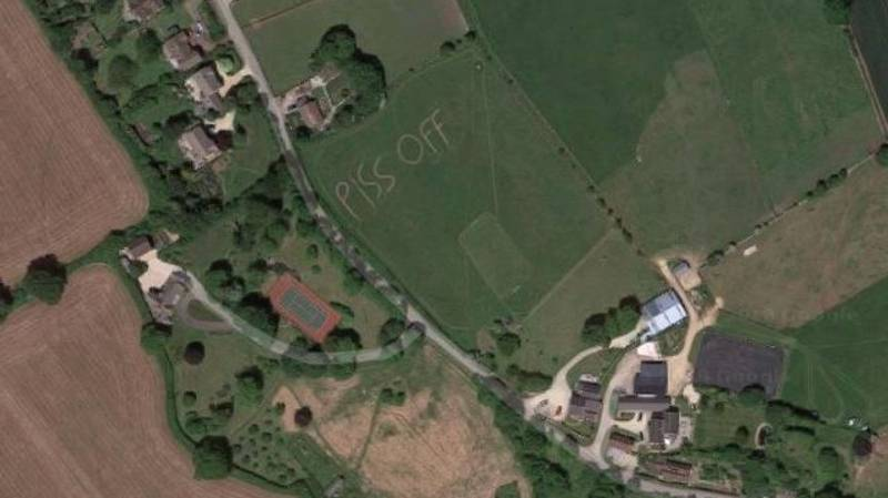 Bristol Farmer Takes The Time And Effort To Etch 'P**s Off' Into Their Field