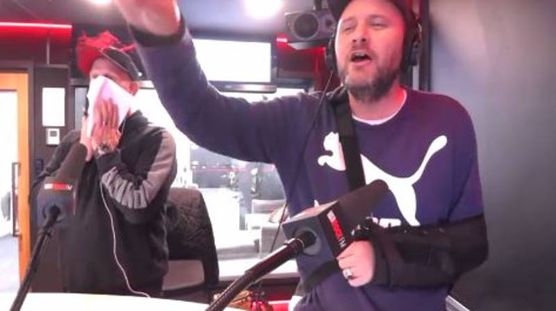 Radio Caller Gives Studio Shock Of Their Lives With Pick-Up Line