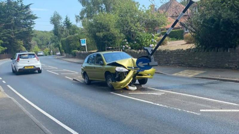 Motorist Crashes Into Post After Spotting Spider In Their Car