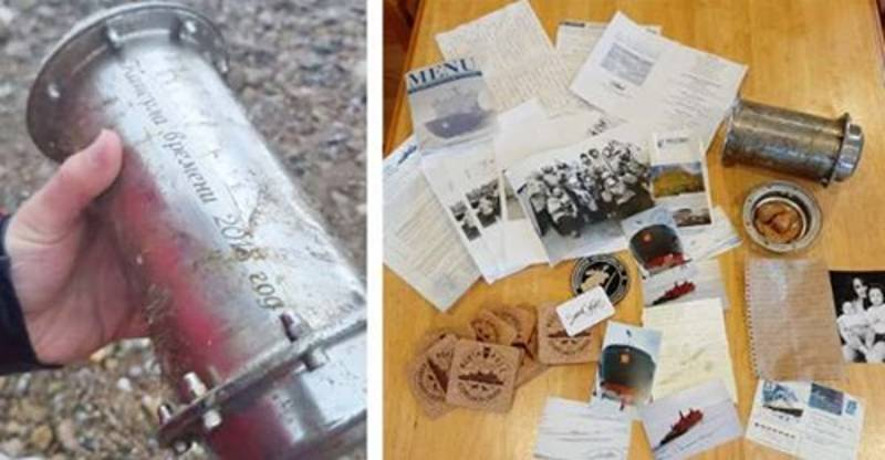 Donegal man finds North Pole time capsule washed up on a beach