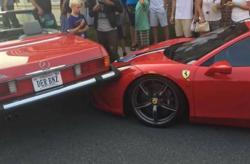 Woman Somehow Backs Over £230k Ferrari And The Aftermath Was Caught On Camera