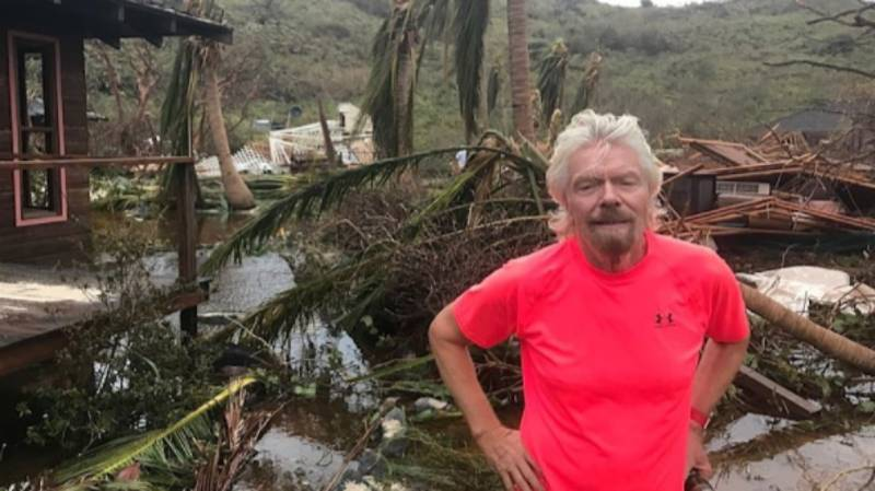 Richard Branson Shows The Devastation Caused To His Home By Hurricane Irma