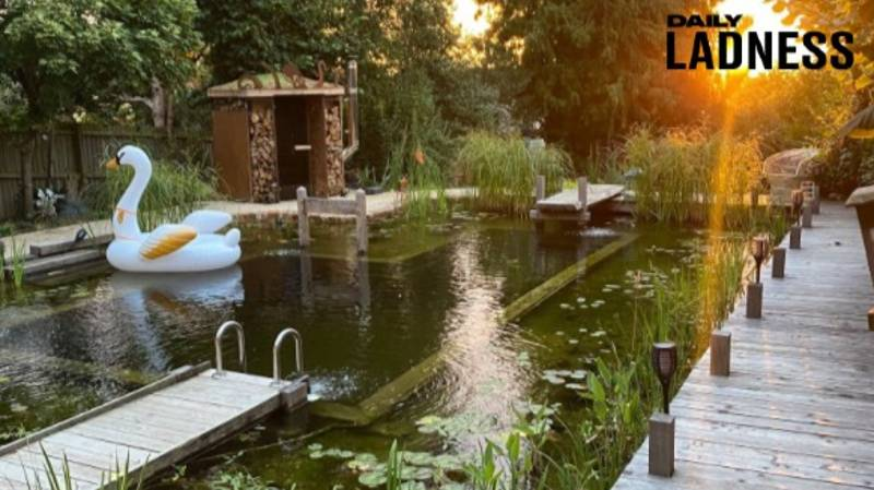 Couple Spend Two Years Creating Stunning Natural Swimming Pool In Their Garden