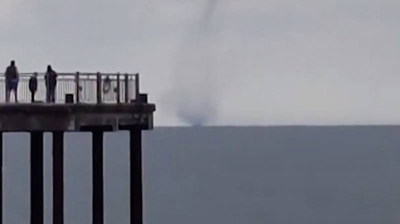 Tornado-Like Water Spout Spotted Off The Coast Of Suffolk