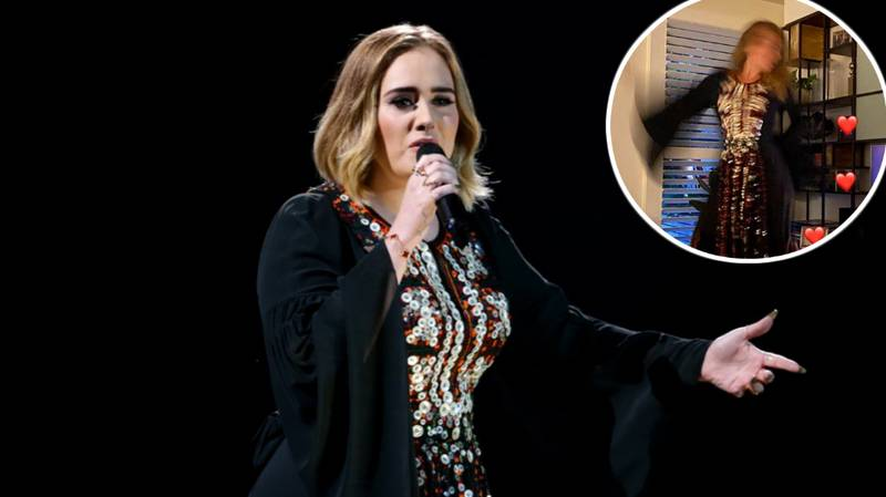 Adele Shows Off Weight Loss In Glastonbury Dress As She Watches Performance From Home