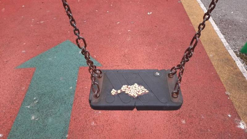 Mysterious Vandal Covers Kids Playground Equipment In Baked Beans
