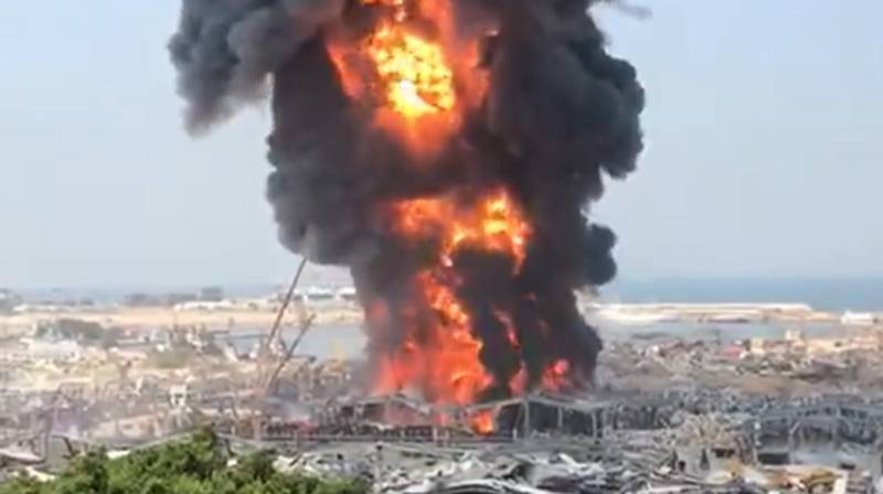 Huge Fire Breaks Out At Beirut Port 37 Days After Devastating Explosion