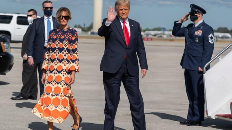 Melania Trump Snubs Photo Op After Landing In Florida With Donald