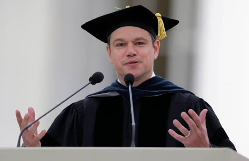 Matt Damon Covered A Lot Of Ground In His Graduation Speech