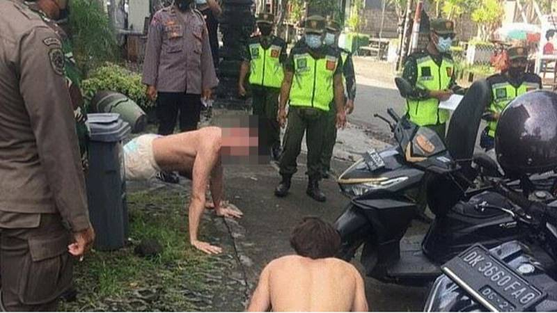 ​Tourists In Bali Are Having To Do Push-Ups For Not Wearing Face Masks