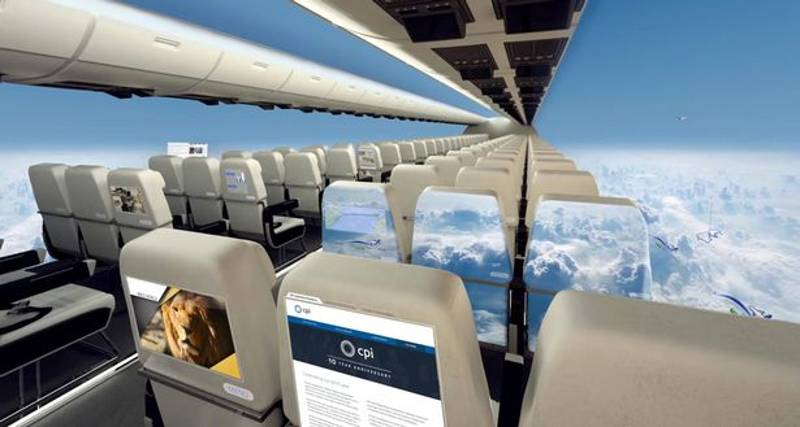 Virtual Reality Visors To Replace Windows In Planes