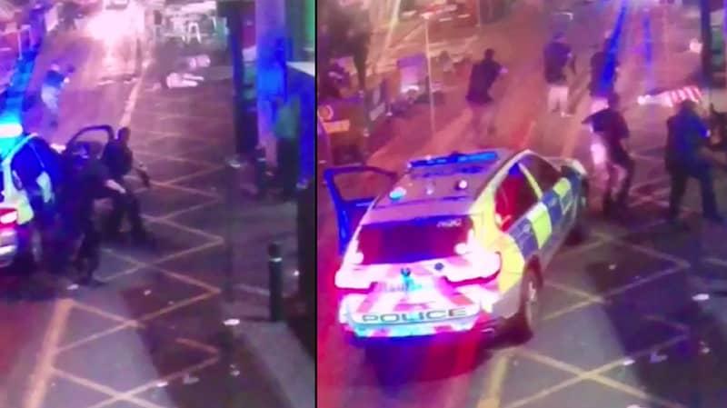 Dramatic Moment Heroic Police Gun Down London Bridge Attackers