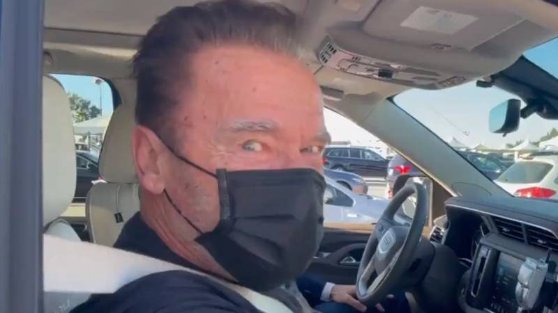 Arnold Schwarzenegger Delivers Famous Terminator Line As He Receives Covid-19 Vaccine