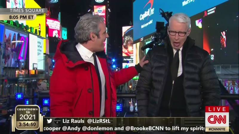 CNN Hosts Throw Back Shots During New Year's Eve Coverage
