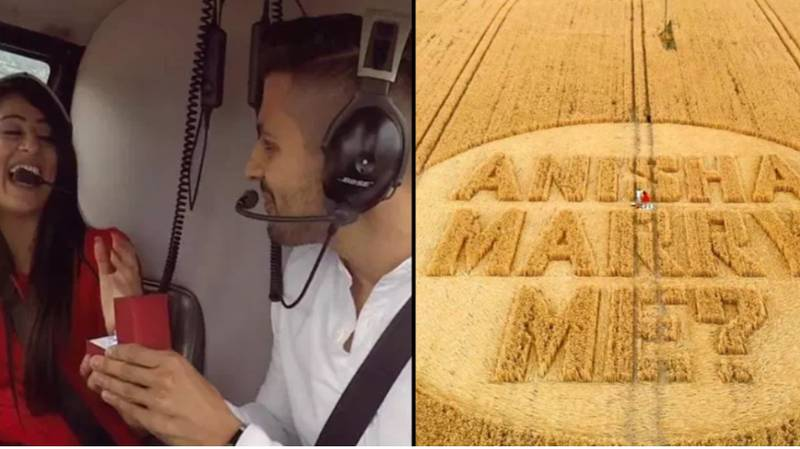 Man Uses Huge Crop Circle To Ask Girlfriend To Marry Him