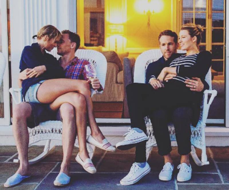 Ryan Reynolds' Face Next To Taylor Swift And Tom Hiddleston Sums Up How We Feel