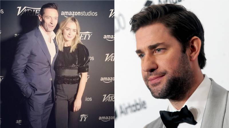 John Krasinski And Ryan Reynolds Call Out Hugh Jackman For Cosying Up To Emily Blunt