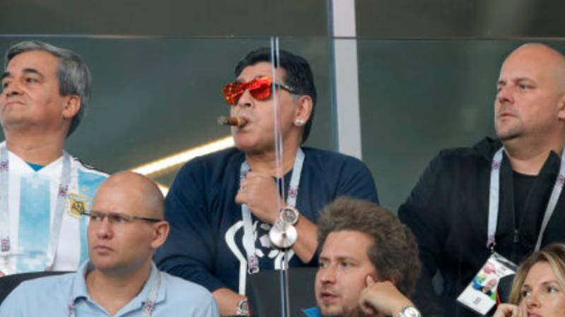 Diego Maradona Allegedly Caught Performing 'Racist' Gesture At The World Cup