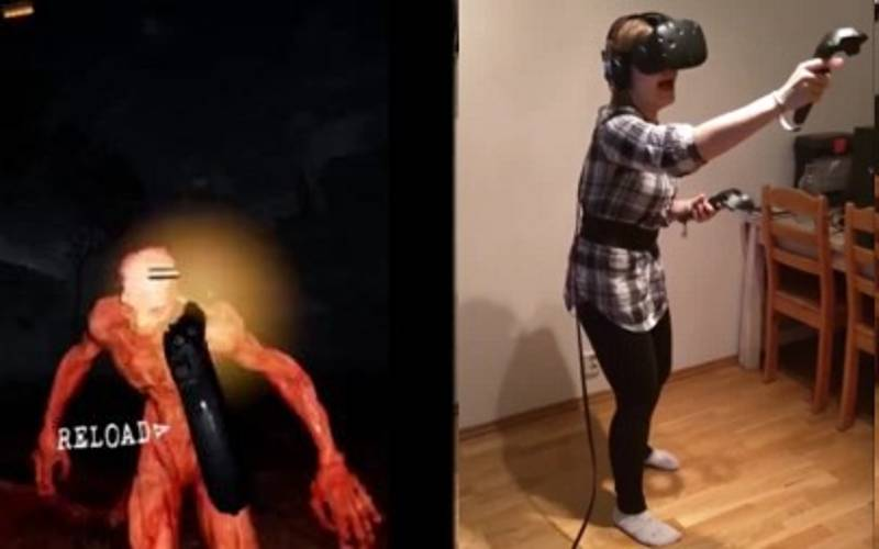WATCH: Woman Completely Losing Her Sh*t Playing Horror Game On VR Headset