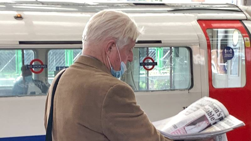 Boris Johnson's Dad Caught Not Wearing Mask Properly For Third Time In A Week