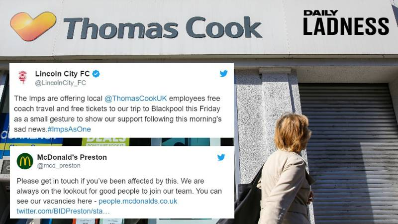 Local Businesses And Big Companies Come Together To Offer Jobs And Freebies To Ex-Thomas Cook Staff