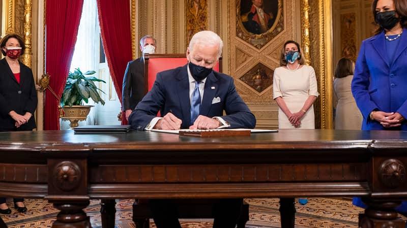 Joe Biden Signs Executive Orders Overturning Donald Trump's Controversial Policies