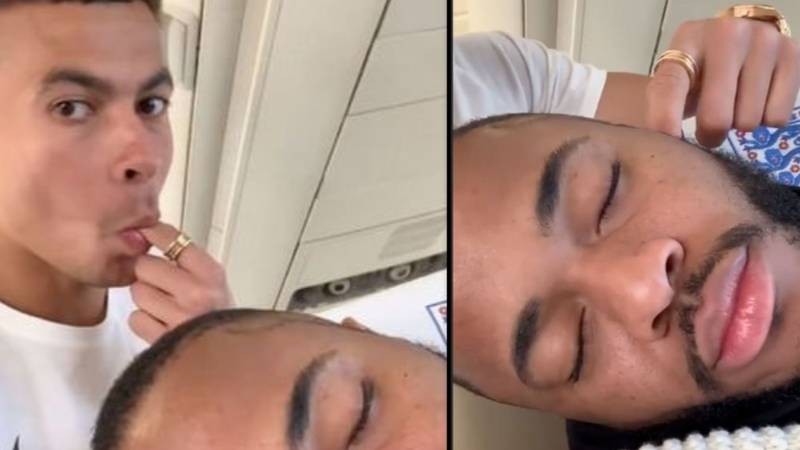Dele Alli Pranks Raheem Sterling With Wet Willy