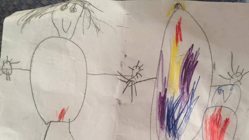 Mum Left Red-Faced After Son Draws Picture Of Her With One Interesting Detail