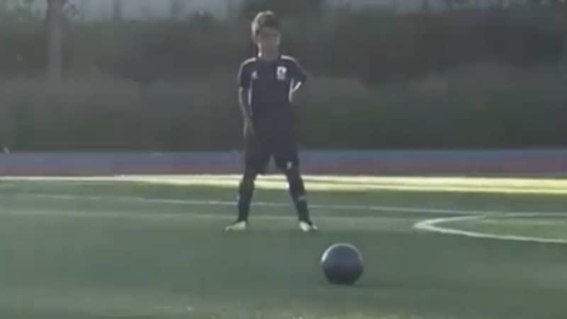 Cristiano Ronaldo's Son Filmed Scoring Stunning Free-Kick