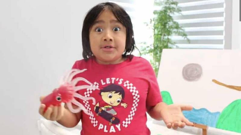 Nine-Year-Old Ryan Kaji Becomes This Year's Highest-Paid YouTuber For Third Year