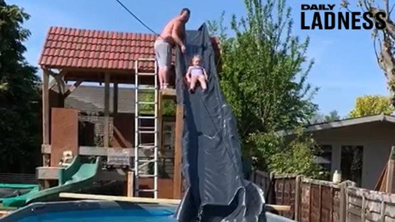 Builder Dad Constructs Water Park In His Back Garden During Lockdown