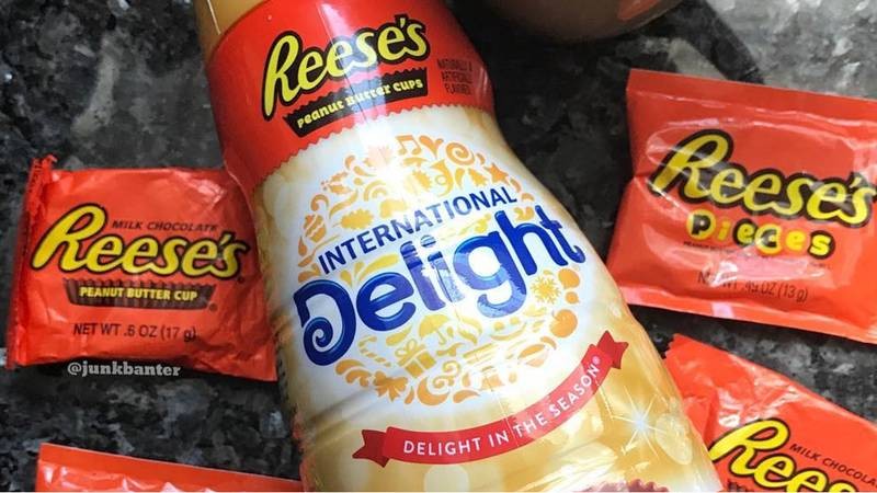 Reese's Peanut Butter Cups Coffee Creamer Is Actually A Thing