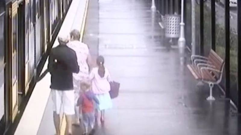Horrifying Moment Young Boy Falls Between Train And Platform Caught On CCTV