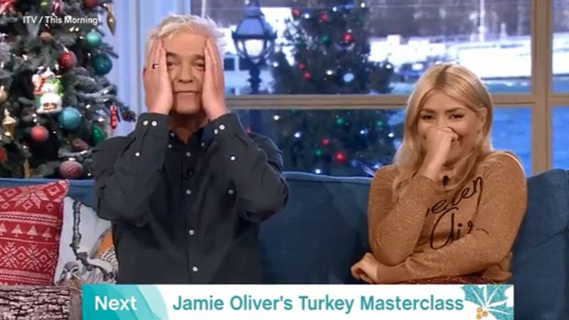 Holly Willoughby Absolutely P****s Herself Over Massaging And Stuffing A Turkey