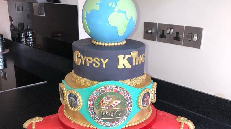 ​Tyson Fury's Wife Surprises Him With Massive WBC Title Celebration Cake